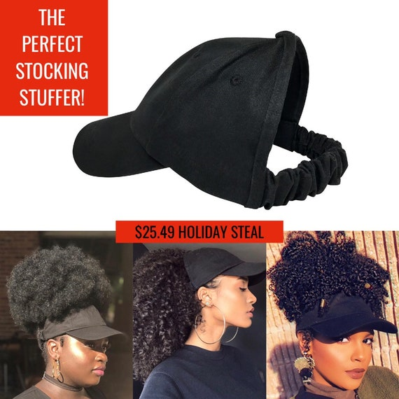Black Baseball Hat, Curlcap, Curlcaps, Curly Hair, Natural Hair, Hair Accessories, Head Wraps For Women, Afro, Natural Hair Hat, Ladies Hat