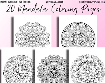 Adult coloring pages printable | Etsy