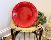Vintage Homer Laughlin Fiesta 10.5 dinner plate in Scarlet red