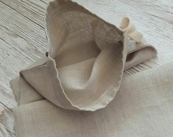 Luxury Linen Bread Bag. Produce Bag. Reusable. Zero Waste. Plastic Free.