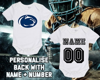 sale retailer 74cb4 e198d NCAAF Penn State Nittany Lions College Football Personalised BabyGrow  Onezie Bodysuit Vest Onepiece Customised Boy Girl Gift SUBLIMATION