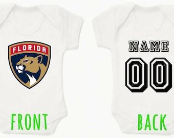 NHL Florida Panthers Personalised BabyGrow OnePiece Bodysuit Vest Hockey