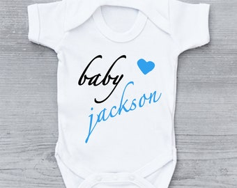 Personalised Baby Name Announcement BabyGrow Onezie Bodysuit Vest Onepiece  Customised Baby Boy Girl Gift SUBLIMATION INK 6ea2007b1