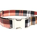 Pumpkin Plaid Dog Collar, Fall Dog Collar, Halloween Dog Collar, Dog Mom Gift, Boy Dog Collar, Female Dog Collar