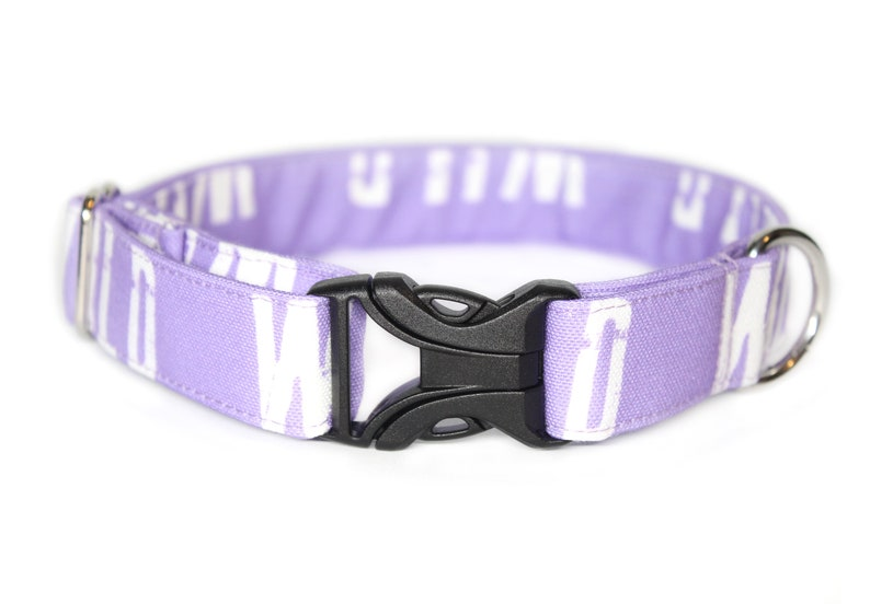 Purple WILD CANVAS Dog Collar Water Resistant Collar Dog Mom image 0