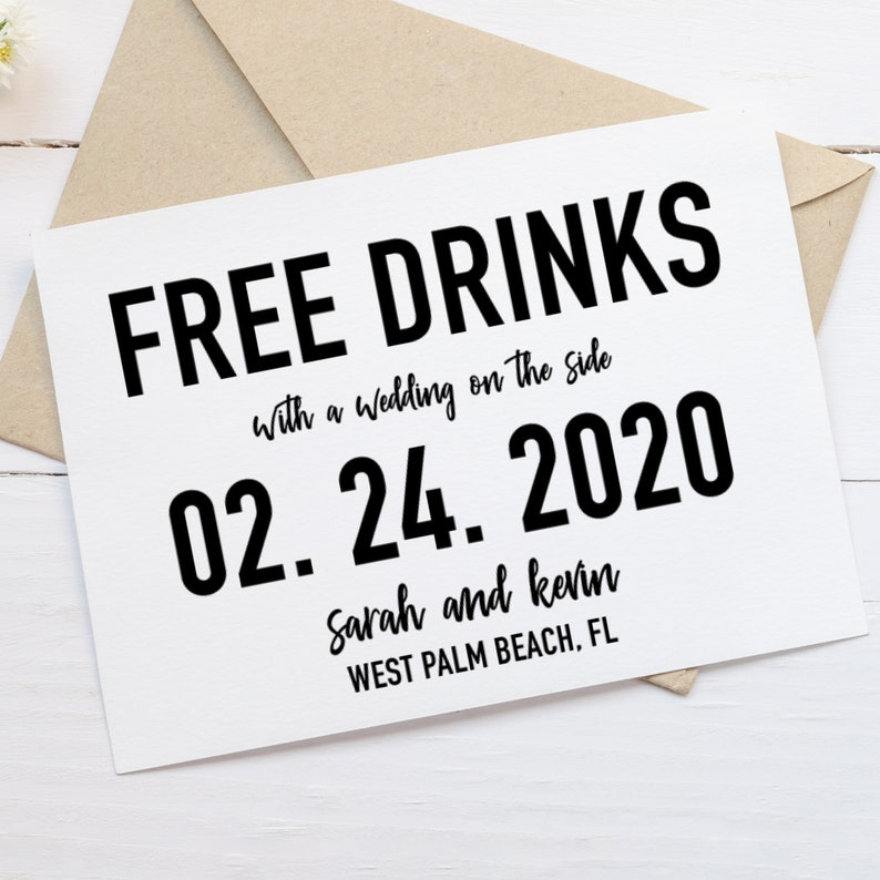 picture relating to Printable Save the Dates called Free of charge Beverages Help save the Day, Free of charge Beer Invitation, Printable Help you save the Day, Minimalist Help save the Day, Amusing Help save the Day Invitation