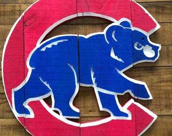 Chicago Cubs Sign Pallet Wood