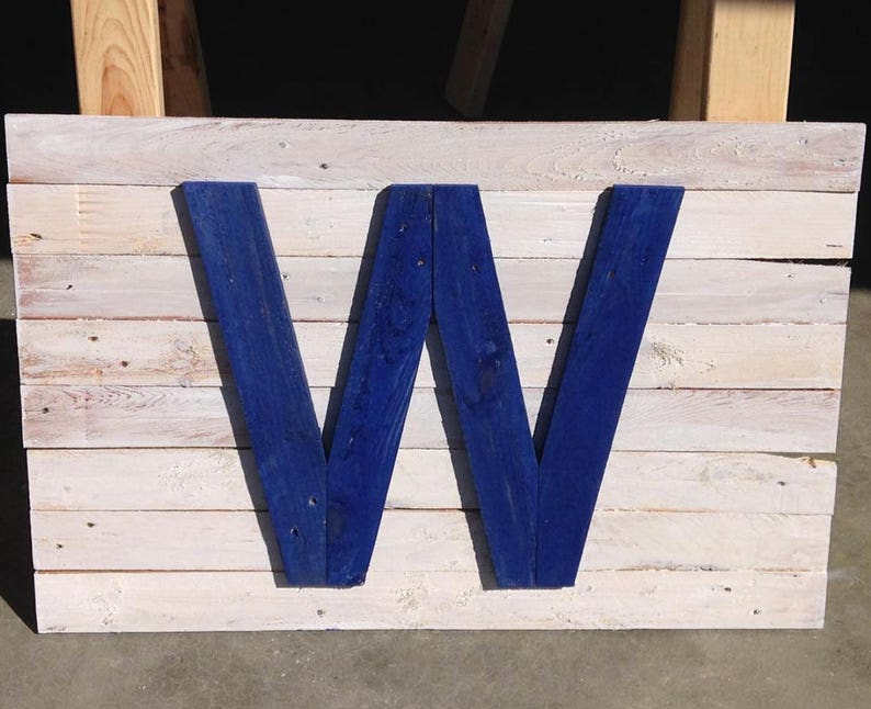 a962ed8c1f8 Chicago Cubs W Sign Pallet Wood