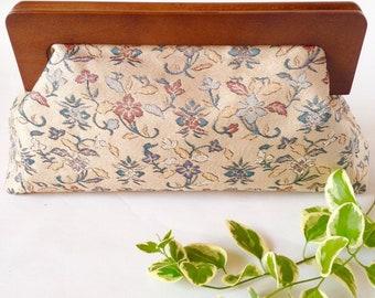 Hand woven obi Clutch bag, Vintage kimono belt, Silk obi clutch bag, Gold thread,