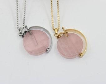 Fish Black Dome Glass Cabochon Necklace chain Pendant #199