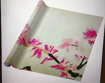 Cherry Blossom Watercolor Wrapping Paper