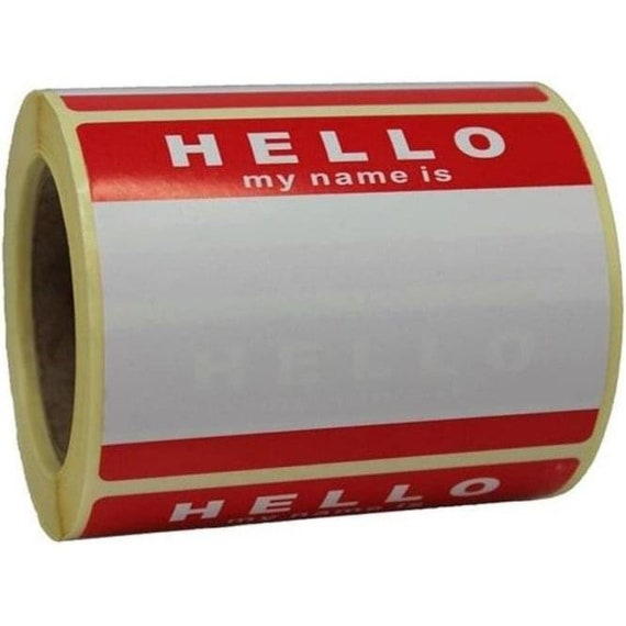 Montana /'Hello My Name Is/' Sticker Roll