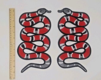 31a730fb6 Snake Patch - 2 Large IRON ON 10