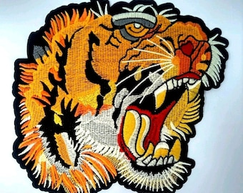 424d48918 Tiger Patch LARGE gucci style 7 inches Iron On - Free USA Shipping