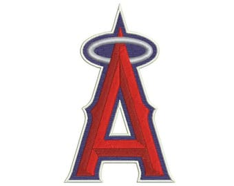 7 SIZE Los Angeles Angels Embroidery Designs Baseball Embroidery Designs Baseball Logo PES Embroidery Baseball Applique
