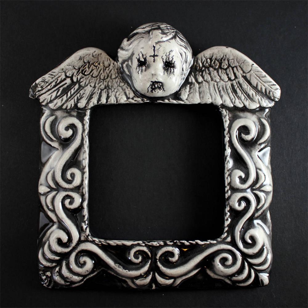 Schwarz Metall Amor Rahmen Valentines Day Keramik präsentieren