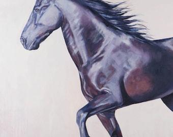 Horse Art, Equine Art, Oil Painting, Painting, Print, Wall Art