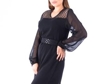 8c116c9ca3 Moroccan Modern Kaftan, Black Long Dress, Elegant BLack Dress, Moroccan  Fashion, Black Fashion, Stylish Kaftan, Black Evening Dress