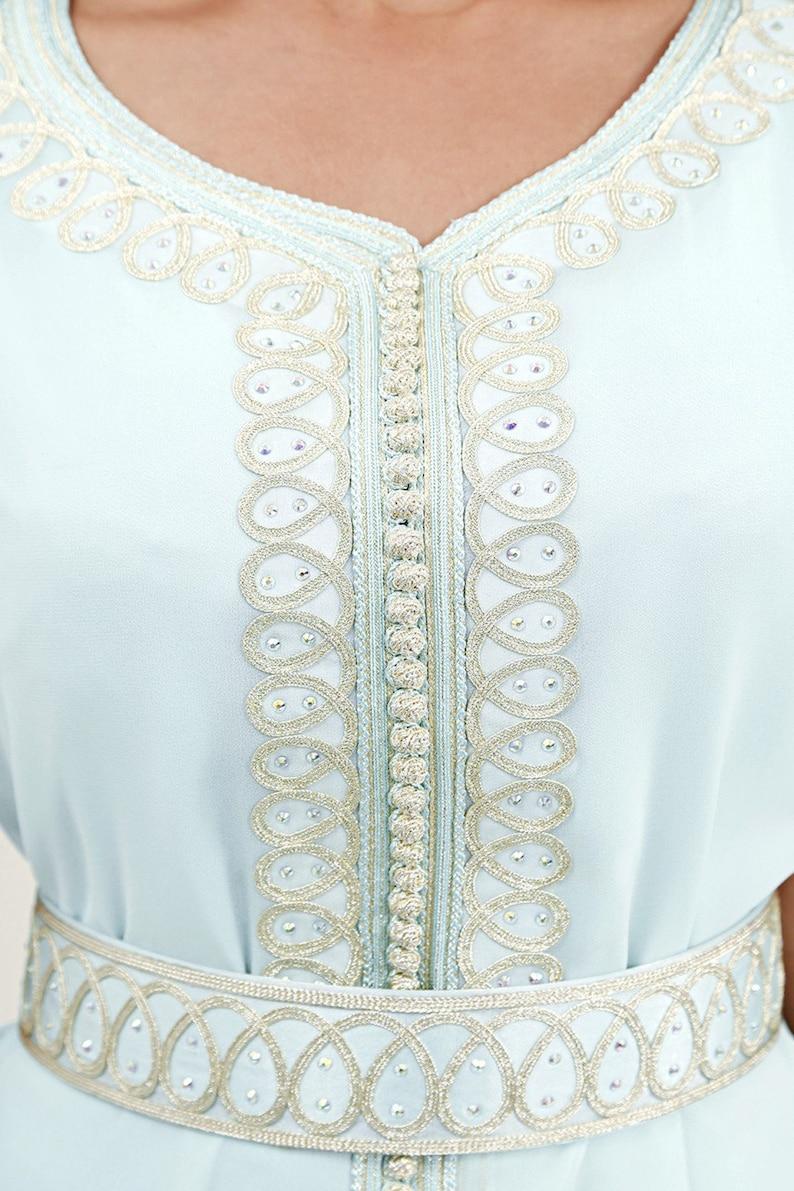 5e7f442f17 Moroccan Modern Caftan Moroccan Fashion Wedding dress Water   Etsy
