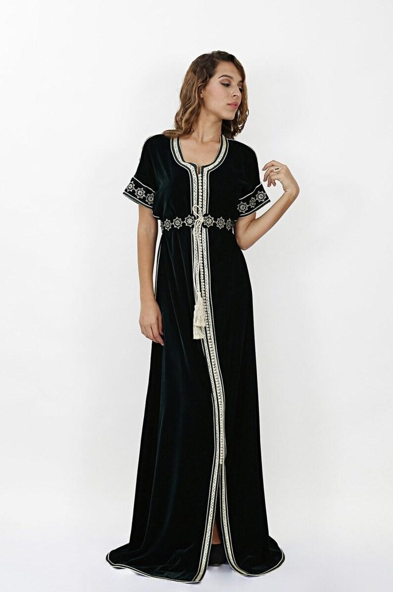 068234c704 Moroccan Modern Kaftan Moroccan Fashion Wedding Guest dress   Etsy