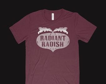 Radiant Radish T-shirt, Brian Wilson and The Beach Boys