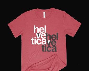 Helvetica Typography Design T-Shirt