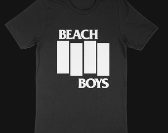 Black Flag Beach Boys mashup tshirt