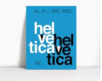 Helvetica Suisse Typographic Specimen Premium Matte Print