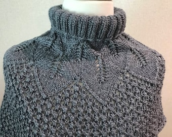 Hand knitted  cowl.