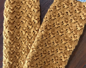Hand knitted arm warmers