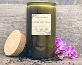 HAVANA HONEYMOON Scented Soy Candle 15.5oz Vintage Green Jar w Cork Woodwick Cuban Candle Tobacco Leaf Candle Tropical Floral