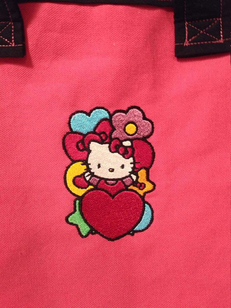 Tote \u2013 Hello Kitty with HeartsStarsFlower
