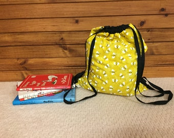 Bee Drawstring Backpack