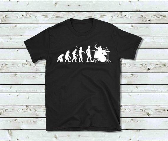 896546e7 Drummer T-Shirt Evolution Drummer Shirt Drummer Gift | Etsy
