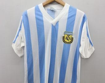 c43a12501 Vintage Argentina World Cup Football Team Sport Wear Football Soccer T Shirt