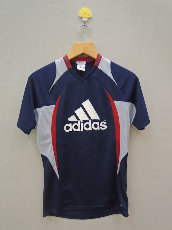 Vintage Adidas Big Logo T Shirt Sport Jersey Wear Top Tee Size | Etsy