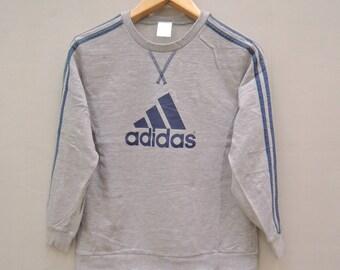 Vintage Adidas Big Logo Pull Over Sport Sweatshirt Hip Hop