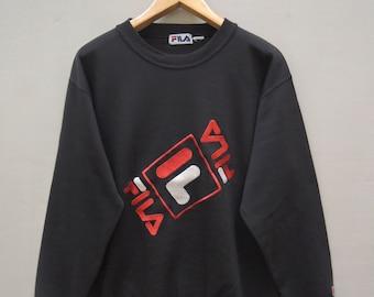 Vintage Fila Big Logo Pull Over Sport Sweatshirt Hip Hop