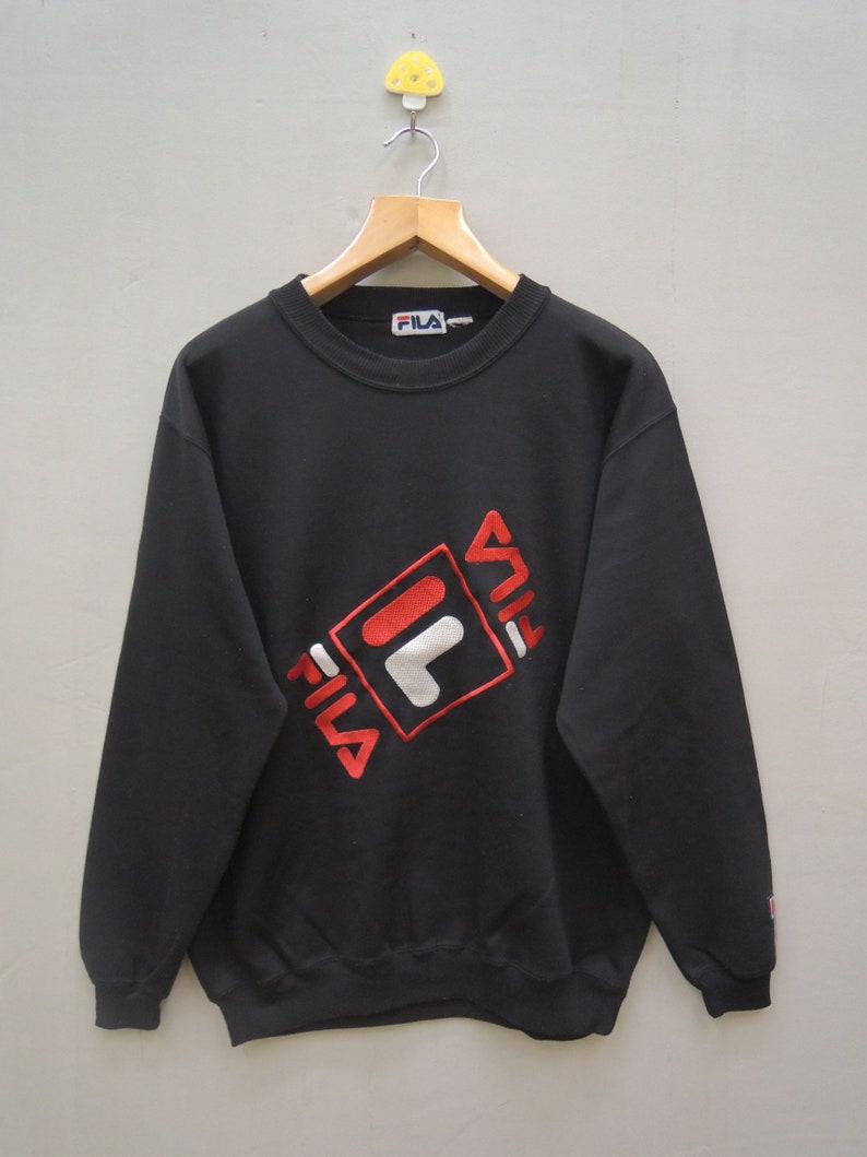 431530cddb2 Vintage Fila Big Logo Pull Over Sport Sweatshirt Hip Hop