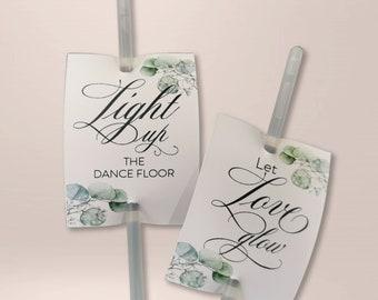 50 x square light sticks, wedding, wedding dance, buckling light ( EPIC EUCALYPTUS )