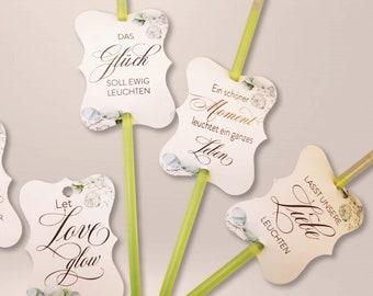 50 x light sticks, wedding, wedding dance, buckling light ( EPIC EUCALYPTUS )