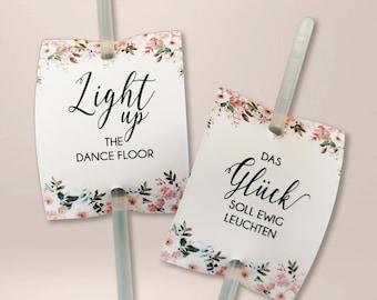 50 x square light sticks, wedding, wedding dance, buckling light ( PRIMAVERA )