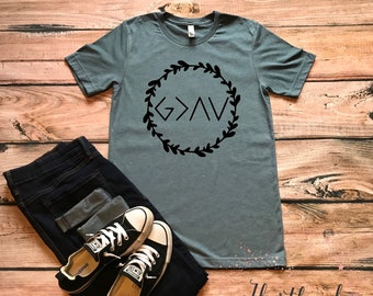 God Is Greater Than The Highs And Lows Tee- God is Greater Tee- Women's Christian Tee