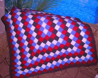 Häkeldecke Multicolor Decke Häkeln Häkeln Oma Platz Decke Etsy