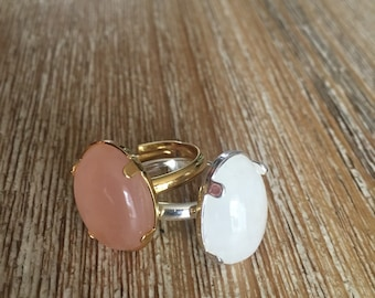 Ring silver or gold with stone