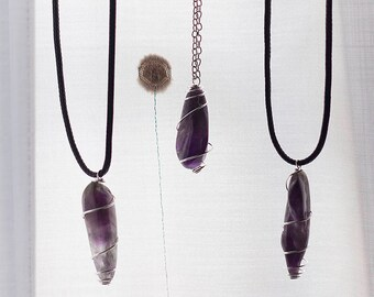 Polished Amethyst Necklace | Polished Amethyst Necklace
