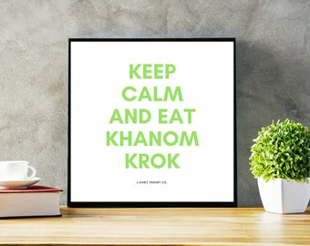 Eat Khanom Krok Thai Snack Poster