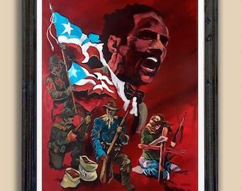 Albizu Campos Puerto Rico Wall Art Arte puertorriqueño Boricua Héroe de la Patria
