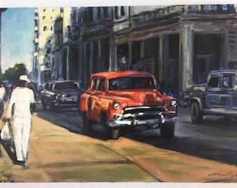 Original Impressionist Style Cuban Oil Painting on Canvas