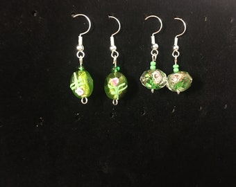 DesignsbyKIKO Green Floral Dangle Earrings